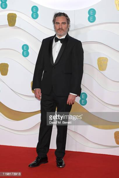 Joaquin Phoenix arrives at the EE British Academy Film Awards 2020 at Royal Albert Hall on February 2, 2020 in London, England.