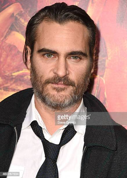 Joaquin Phoenix arrives at the Premiere Of Warner Bros Pictures' 'Inherent Vice' at TCL Chinese Theatre on December 10 2014 in Hollywood California