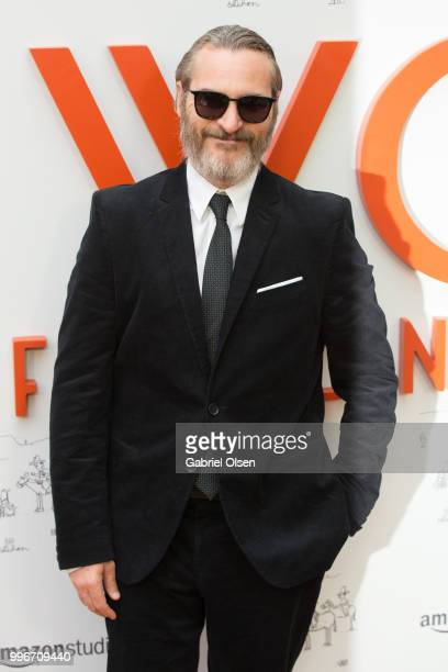 Joaquin Phoenix arrives to the Amazon Studios premiere of 'Don't Worry He Wont Get Far On Foot' at ArcLight Hollywood on July 11 2018 in Hollywood...