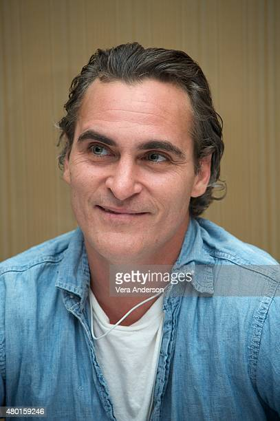 Joaquin Phoenix at the 'Irrational Man' Press Conference at the Regent Beverly Wilshire Hotel on July 8 2015 in Beverly Hills California