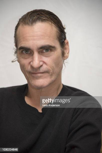 "Joaquin Phoenix at ""The Sisters Brothers"" Press Conference at the Fairmont Royal York Hotel on September 9, 2018 in Toronto, Canada."