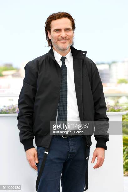 Joaquin Phoenix attends a photocall for 'You Were Never Really Here' during the 70th International Cannes Film Festival at the Palais des Festivals...