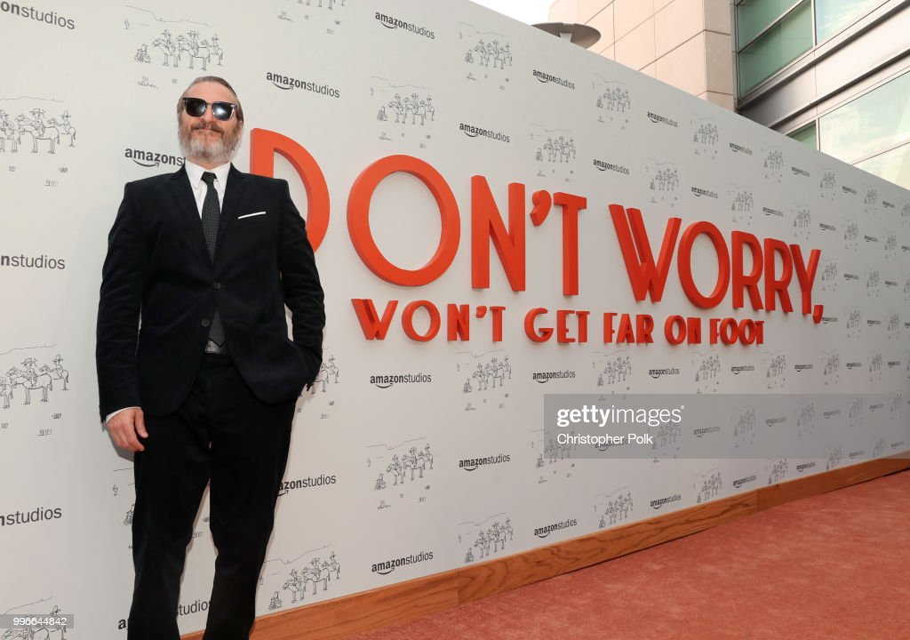 Joaquin Phoenix attends Amazon Studios premiere of 'Don't Worry, He Wont Get Far On Foot' at ArcLight Hollywood on July 11, 2018 in Hollywood, California.