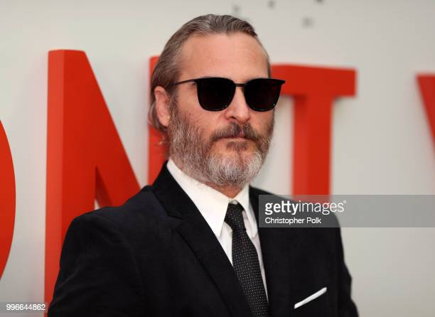 Joaquin Phoenix attends Amazon Studios premiere of 'Don't Worry He Wont Get Far On Foot' at ArcLight Hollywood on July 11 2018 in Hollywood California