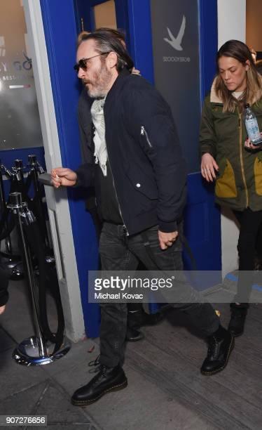 Joaquin Phoenix attends as Grey Goose Blue Door hosts the casts of gamechanging films during the Sundance Film Festival at The Grey Goose Blue Door...