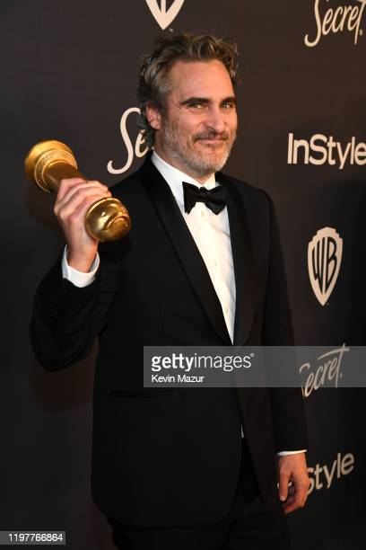 Joaquin Phoenix attends The 2020 InStyle And Warner Bros 77th Annual Golden Globe Awards PostParty at The Beverly Hilton Hotel on January 05 2020 in...