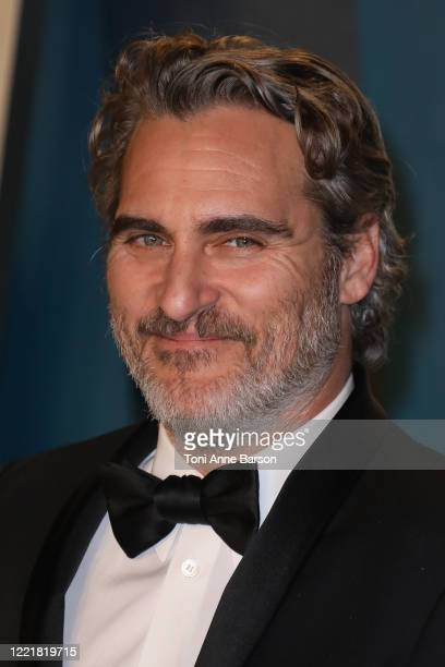 Joaquin Phoenix attends the 2020 Vanity Fair Oscar Party at Wallis Annenberg Center for the Performing Arts on February 09 2020 in Beverly Hills...