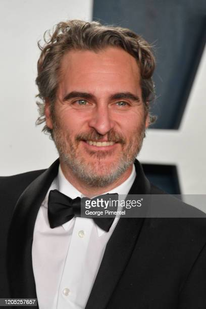 Joaquin Phoenix attends the 2020 Vanity Fair Oscar party hosted by Radhika Jones at Wallis Annenberg Center for the Performing Arts on February 09,...