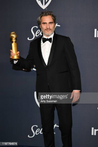 Joaquin Phoenix attends the 21st Annual Warner Bros And InStyle Golden Globe After Party at The Beverly Hilton Hotel on January 05 2020 in Beverly...
