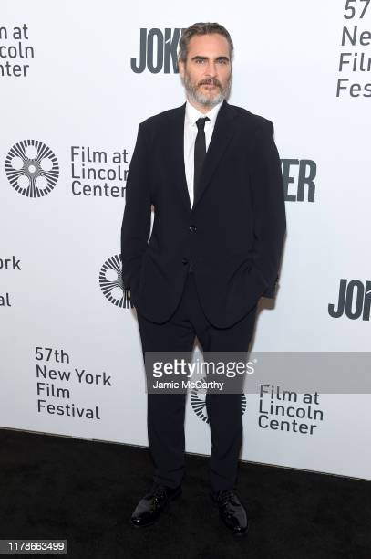 Joaquin Phoenix attends the 57th New York Film Festival Joker Arrivals at Alice Tully Hall Lincoln Center on October 02 2019 in New York City