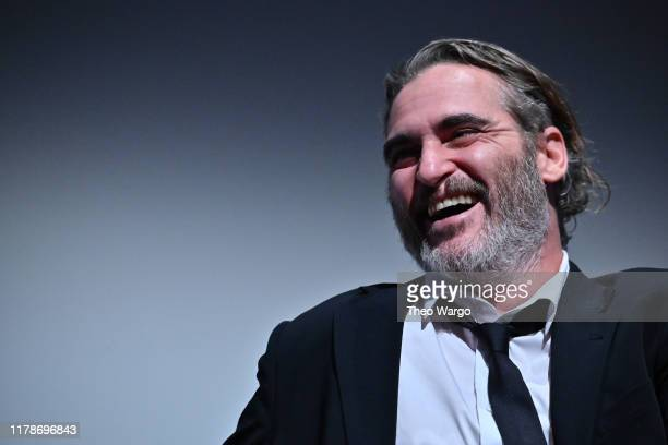 "Joaquin Phoenix attends the 57th New York Film Festival - ""Joker"" Intro and Q&A at Alice Tully Hall, Lincoln Center on October 02, 2019 in New York..."