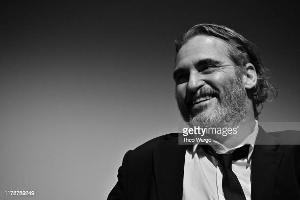 Joaquin Phoenix attends the 57th New York Film Festival Joker Intro and QA at Alice Tully Hall Lincoln Center on October 02 2019 in New York City