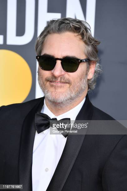 Joaquin Phoenix attends the 77th Annual Golden Globe Awards at The Beverly Hilton Hotel on January 05 2020 in Beverly Hills California