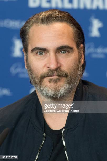 Joaquin Phoenix attends the 'Don't Worry He Won't Get Far on Foot' press conference during the 68th Berlinale International Film Festival Berlin at...