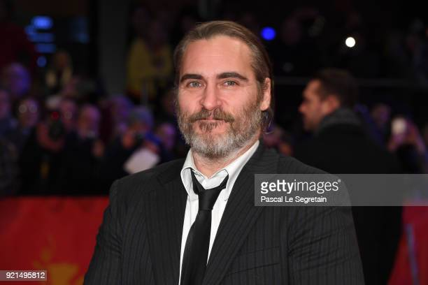 Joaquin Phoenix attends the 'Don't Worry, He Won't Get Far on Foot' premiere during the 68th Berlinale International Film Festival Berlin at...