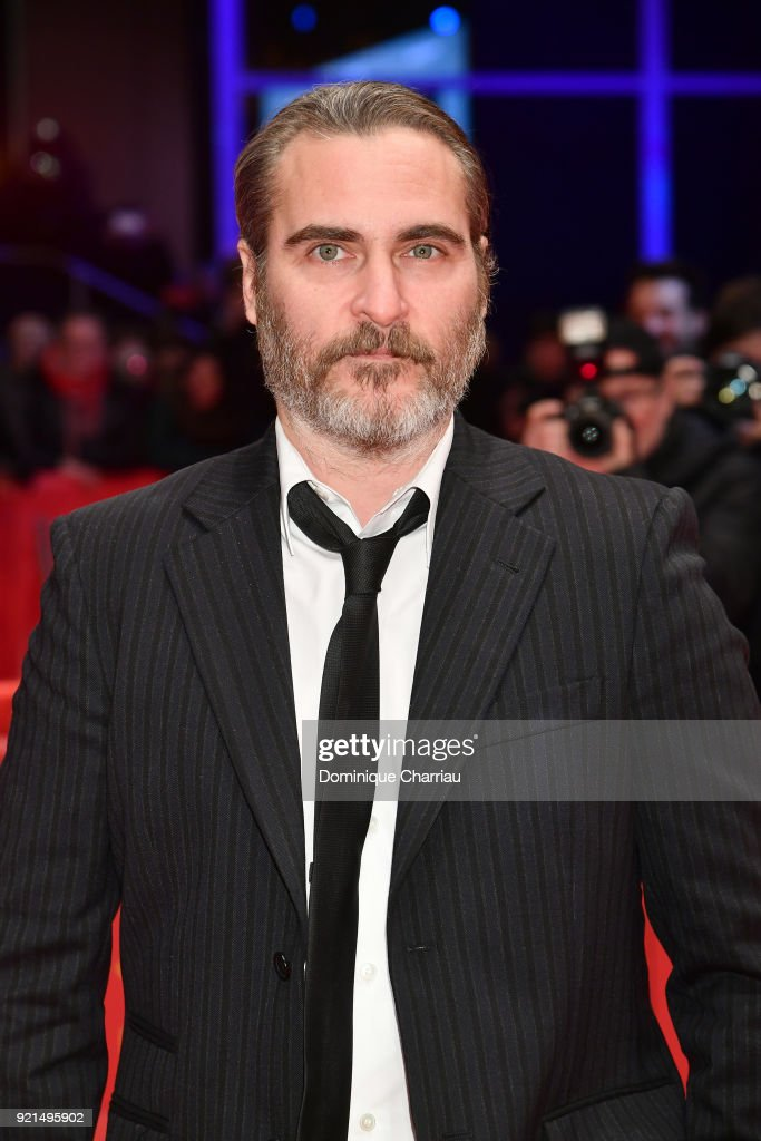Joaquin Phoenix attends the 'Don't Worry, He Won't Get Far on Foot' premiere during the 68th Berlinale International Film Festival Berlin at Berlinale Palast on February 20, 2018 in Berlin, Germany.