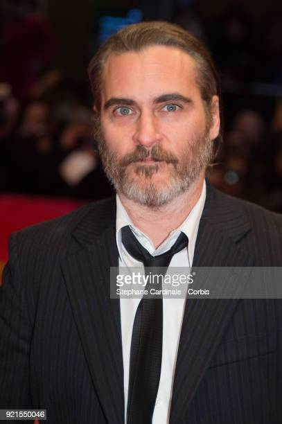 Joaquin Phoenix attends the 'Don't Worry He Won't Get Far on Foot' premiere during the 68th Berlinale International Film Festival Berlin at Berlinale...