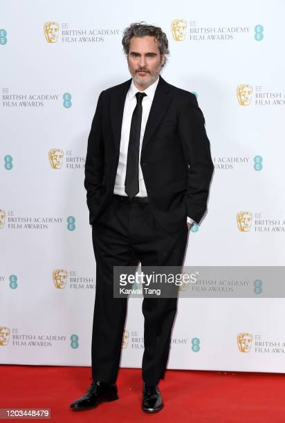 Joaquin Phoenix attends the EE British Academy Film Awards 2020 Nominees' Party at Kensington Palace on February 01 2020 in London England