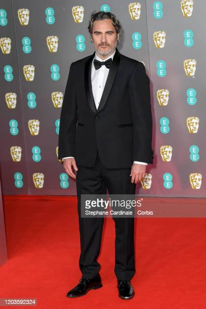 Joaquin Phoenix attends the EE British Academy Film Awards 2020 at Royal Albert Hall on February 02, 2020 in London, England.