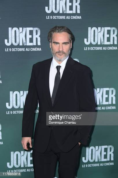 "Joaquin Phoenix attends the ""Joker"" Premiere at cinema UGC Normandie son September 23, 2019 in Paris, France."