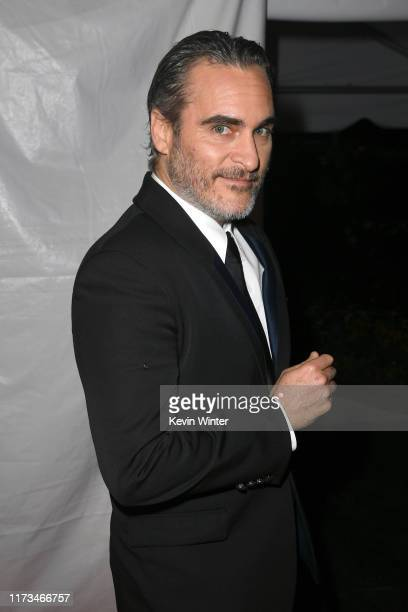 "Joaquin Phoenix attends the ""Joker"" premiere during the 2019 Toronto International Film Festival at Roy Thomson Hall on September 09, 2019 in..."