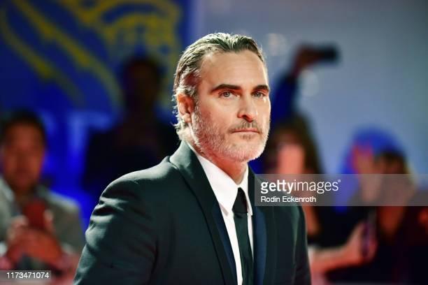 Joaquin Phoenix attends the Joker premiere during the 2019 Toronto International Film Festival at Roy Thomson Hall on September 09 2019 in Toronto...