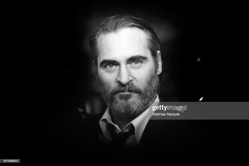 Joaquin Phoenix attends the premiere of 'Don't Worry, He Won`t get Far On Foot' during the 68th Berlinale International Film Festival Berlin on February 20, 2018 in Berlin, Germany.