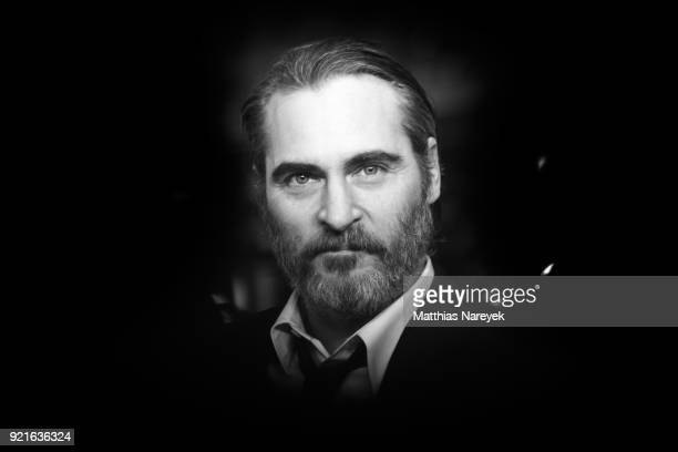 Joaquin Phoenix attends the premiere of 'Don't Worry, He Won`t get Far On Foot' during the 68th Berlinale International Film Festival Berlin on...