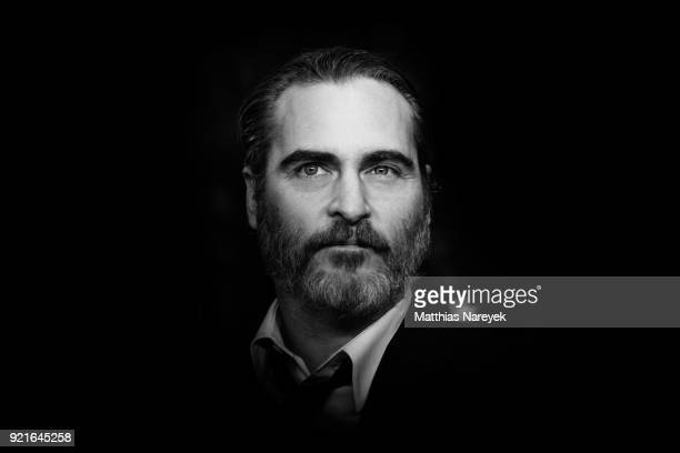 Joaquin Phoenix attends the premiere of 'Don't Worry He Won`t get Far On Foot' during the 68th Berlinale International Film Festival Berlin on...