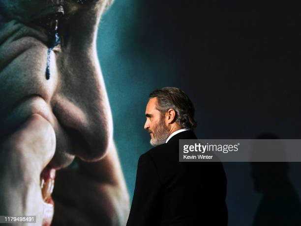 "Joaquin Phoenix attends the premiere of Warner Bros Pictures ""Joker"" on September 28, 2019 in Hollywood, California."
