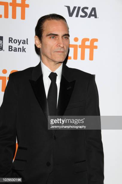 """Joaquin Phoenix attends the """"The Sisters Brothers"""" Premiere during the 2018 Toronto International Film Festival at Princess of Wales Theatre on..."""
