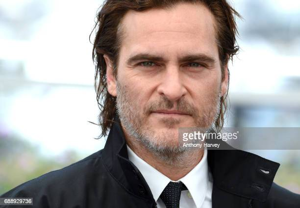 Joaquin Phoenix attends the 'You Were Never Really Here' Photocall during the 70th annual Cannes Film Festival at Palais des Festivals on May 27 2017...
