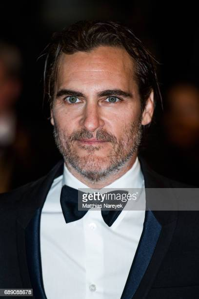 Joaquin Phoenix attends the You Were Never Really Here screening during the 70th annual Cannes Film Festival at Palais des Festivals on May 27 2017...