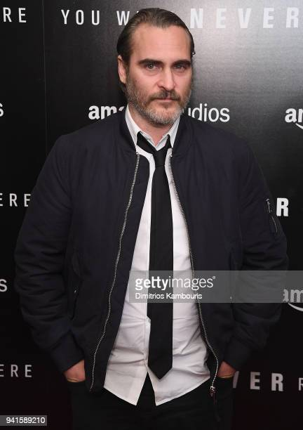 Joaquin Phoenix attends You Were Never Really Here New York Premiere at Metrograph on April 3 2018 in New York City