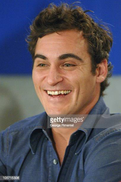 Joaquin Phoenix during 2005 Toronto Film Festival 'Walk The Line' Press Conference at Sutton Place in Toronto Canada