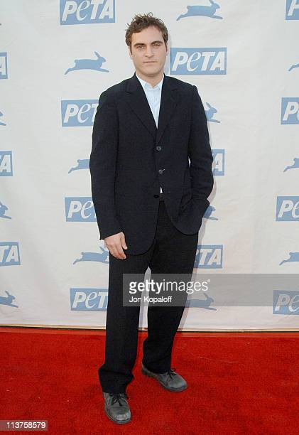 Joaquin Phoenix during 25th Anniversary Gala for PETA and Humanitarian Awards Arrivals at Paramount Pictures in Hollywood California United States