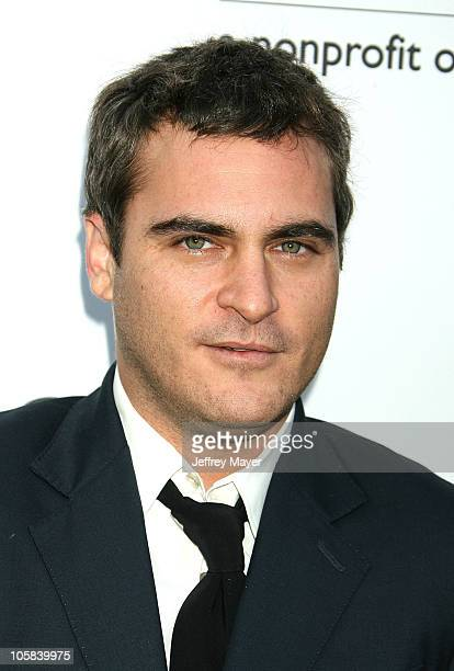 Joaquin Phoenix during Chrysalis's 5th Annual Butterfly Ball Arrivals at Italian villa of Carla and Fred Sands in Bel Air California United States