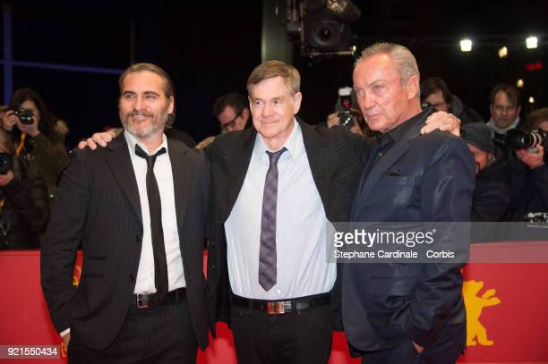 Joaquin Phoenix Gus Van Sant and Udo Kier attend the 'Don't Worry He Won't Get Far on Foot' premiere during the 68th Berlinale International Film...