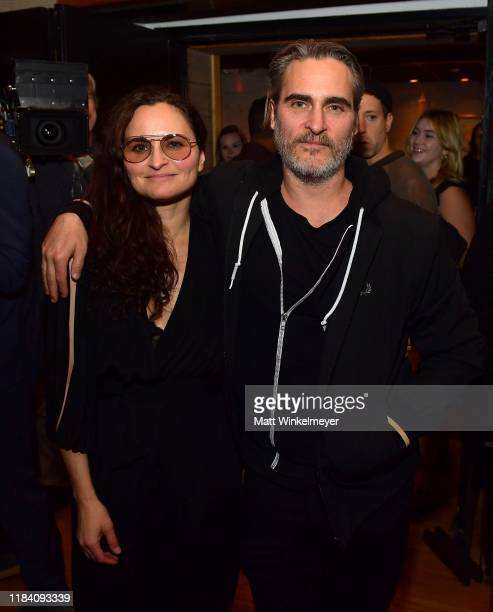 Joaquin Phoenix hosts release party for his sister Rain celebrating her new album RIVER at Jim Henson Studios on October 28 2019 in Hollywood...