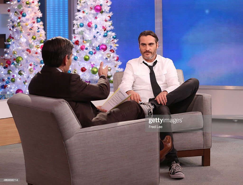 AMERICA - Joaquin Phoenix is a guest on 'Good Morning America,' 12/9/14, airing on the ABC Television Network.