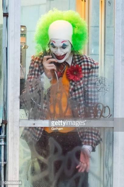 Joaquin Phoenix is seen filming a scene for 'Joker' in Brooklyn on September 24 2018 in New York City