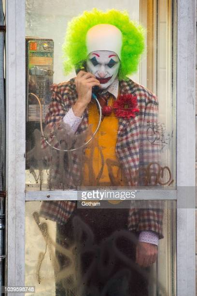 Joaquin Phoenix is seen filming a scene for 'Joker' in Brooklyn on September 24 2018 in New York City
