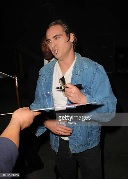 Joaquin Phoenix is seen in Hollywood on January 08 2015 in Los Angeles California