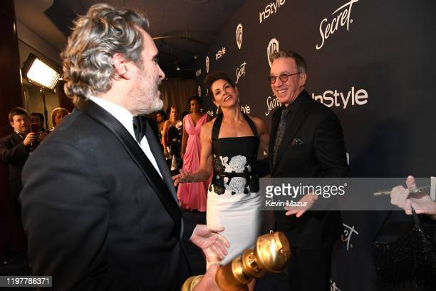 Joaquin Phoenix Jane Hajduk and Tim Allen attends The 2020 InStyle And Warner Bros 77th Annual Golden Globe Awards PostParty at The Beverly Hilton...