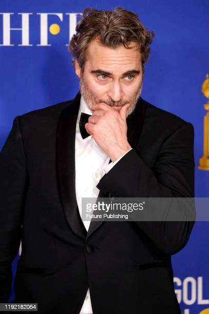 STATES JANUARY Joaquin Phoenix 'Joker' photographed in the press room of the 77th Annual Golden Globe Awards at The Beverly Hilton Hotel on January...
