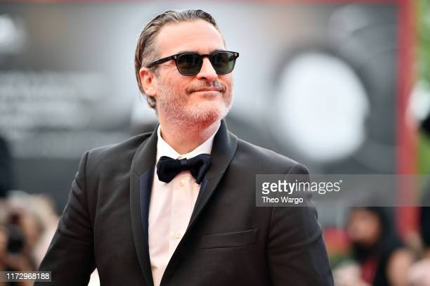 "Joaquin Phoenix of ""The Joker"" walks the red carpet ahead of the closing ceremony of the 76th Venice Film Festival at Sala Grande on September 07,..."