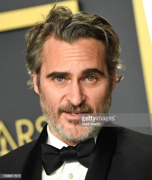 Joaquin Phoenix poses at the 92nd Annual Academy Awards at Hollywood and Highland on February 09 2020 in Hollywood California
