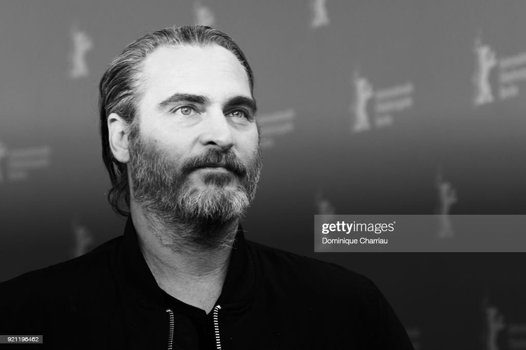Joaquin Phoenix poses at the 'Don't Worry, He Won't Get Far on Foot' photo call during the 68th Berlinale International Film Festival Berlin at Grand Hyatt Hotel on February 20, 2018 in Berlin, Germany.