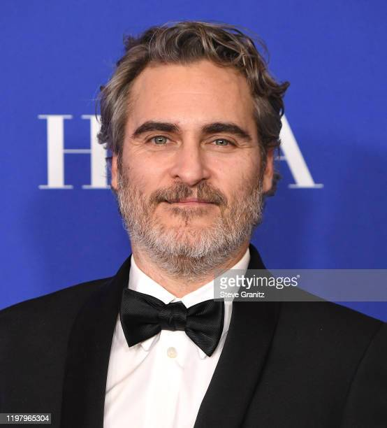 Joaquin Phoenix poses in the press room at the 77th Annual Golden Globe Awards at The Beverly Hilton Hotel on January 05 2020 in Beverly Hills...