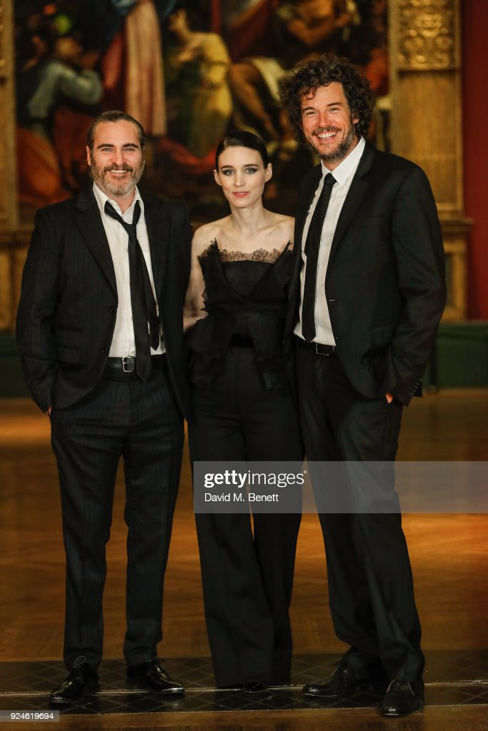 Joaquin Phoenix, Rooney Mara and Chiwetel Ejiofor attend a special screening of 'Mary Magdalene' at The National Gallery on February 26, 2018 in London, England.